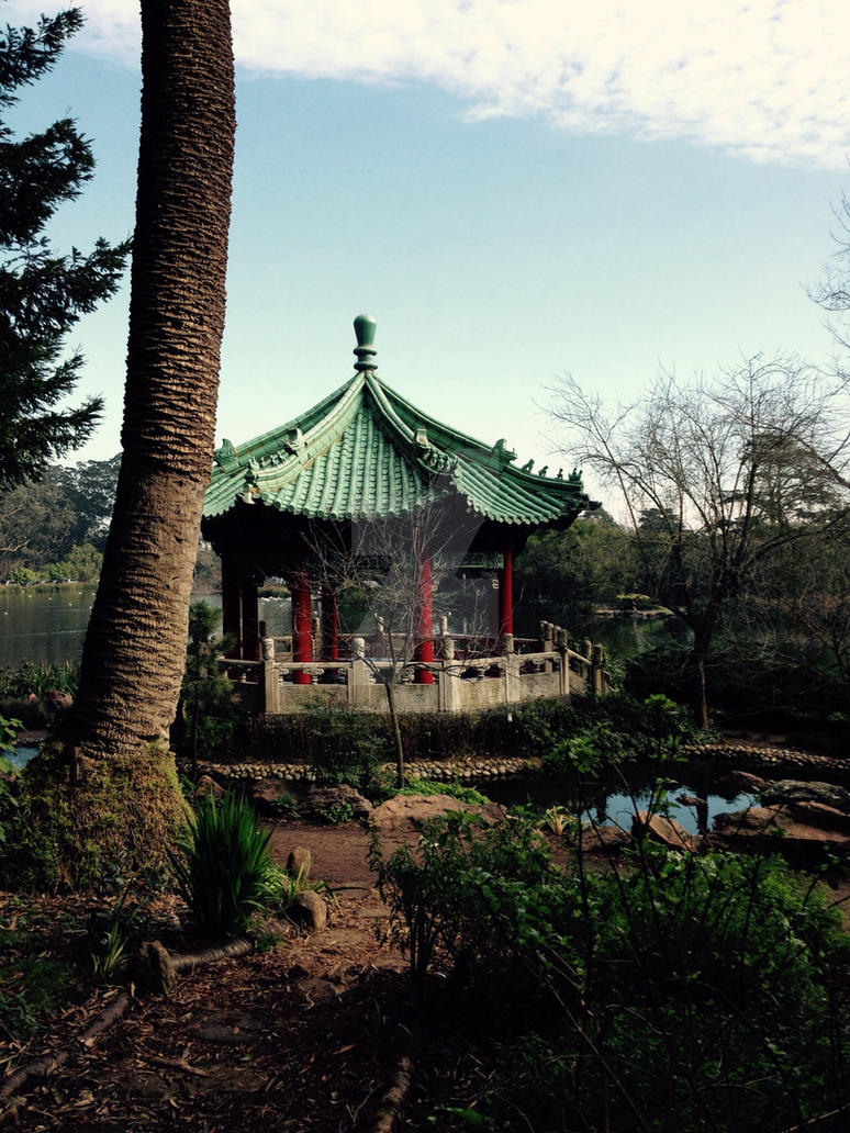 Peaceful garden by athenathegreat7