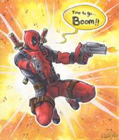 Time to go BOOOM [Deadpool] by ProfDrLachfinger