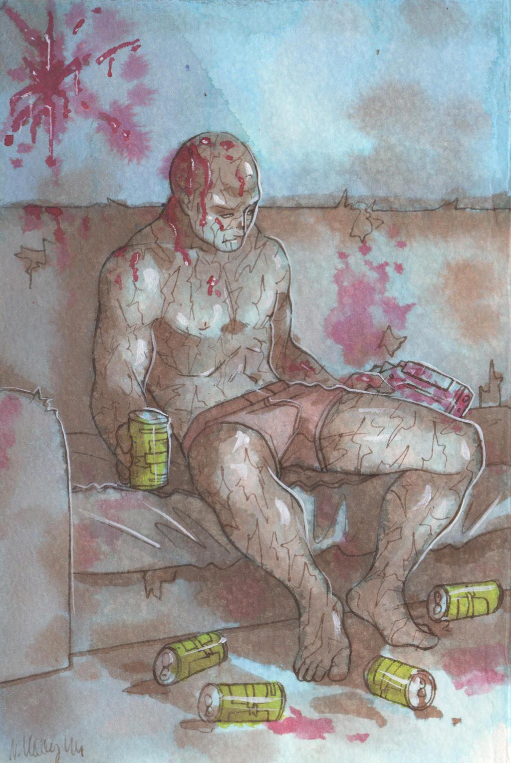 Can't even get drunk [Deadpool] by ProfDrLachfinger