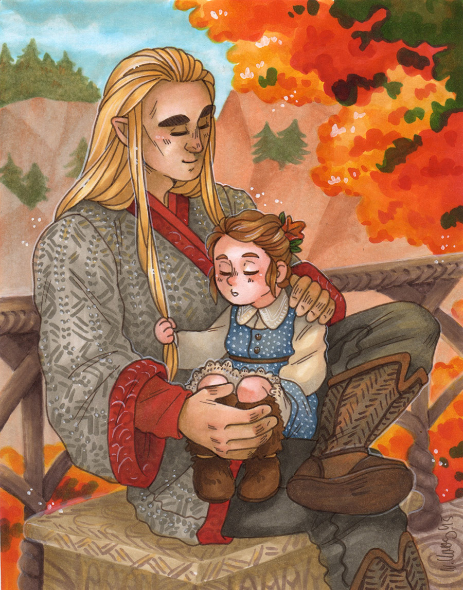 Autumn Day [Thranduil and Tilda] by ProfDrLachfinger