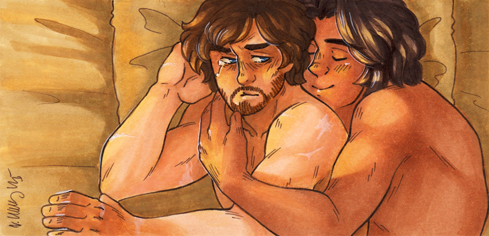 Golden Heart [Athos and d'Artagnan] by ProfDrLachfinger