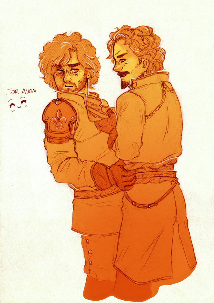 Gentle Kiss [Athos and Aramis] by ProfDrLachfinger