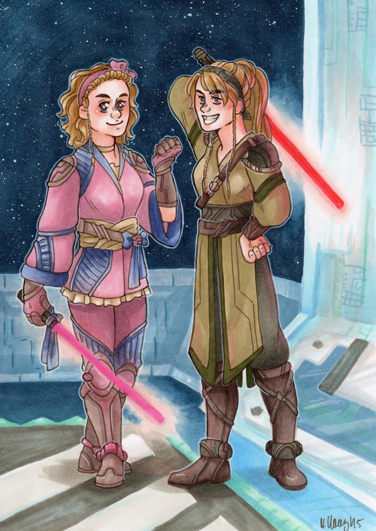 Haavi Obebi and Bunre Bunbi [Jedis] by ProfDrLachfinger