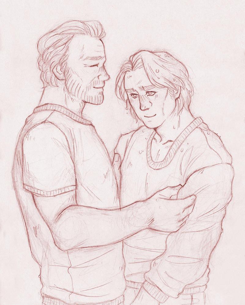 Pullover-Sharing [Jorah Mormont Jaime Lannister] by ProfDrLachfinger