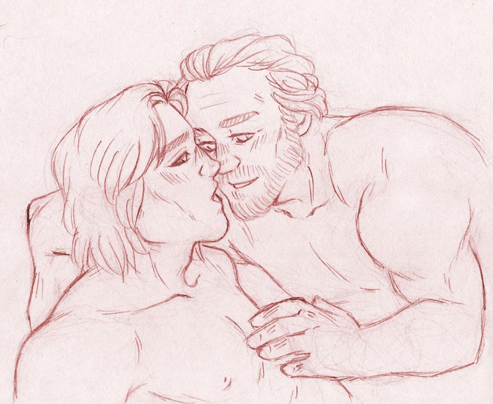 Kisses [Jorah Mormont Jaime Lannister] by ProfDrLachfinger