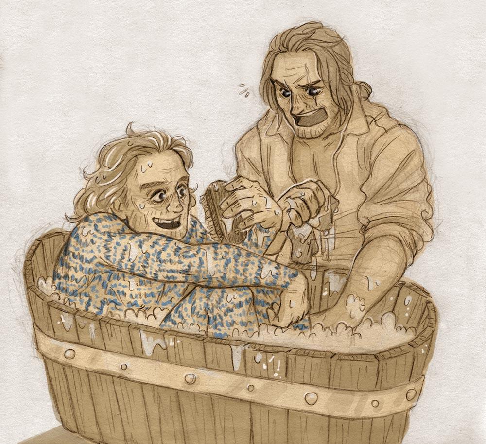 Washing [Childermass and Vinculus] by ProfDrLachfinger