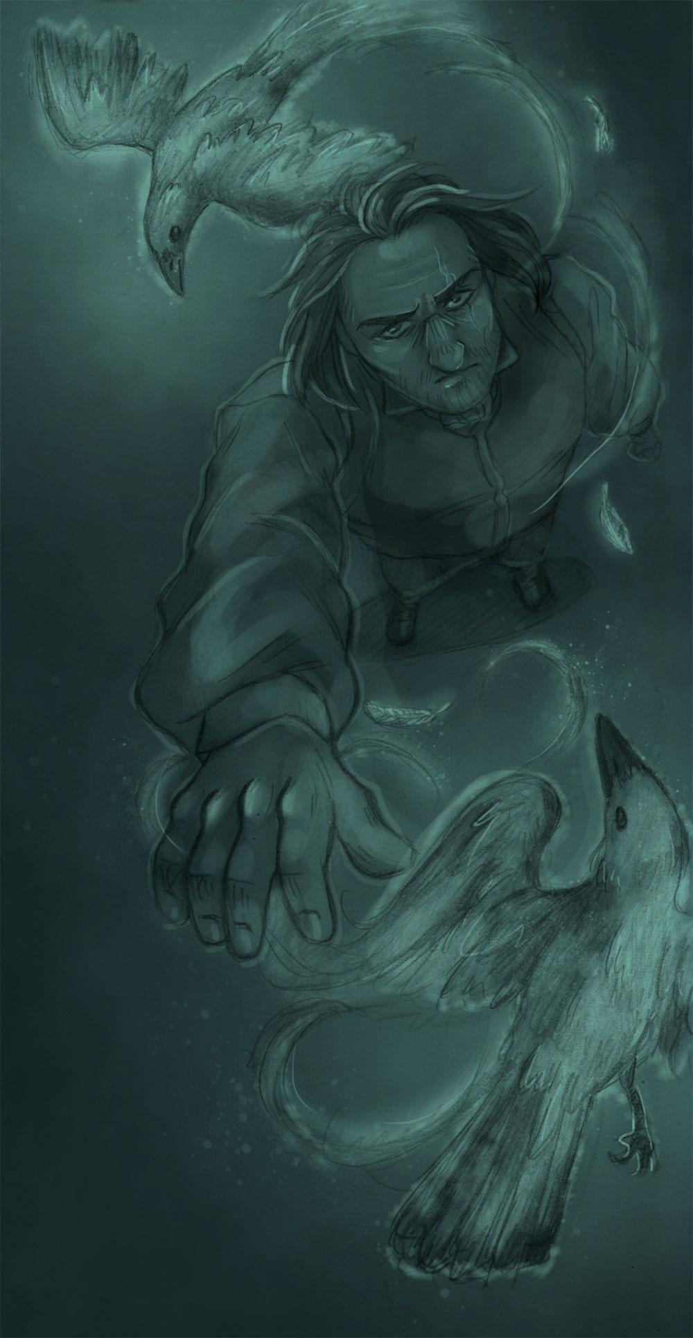 Raven Summoner [John Childermass] by ProfDrLachfinger