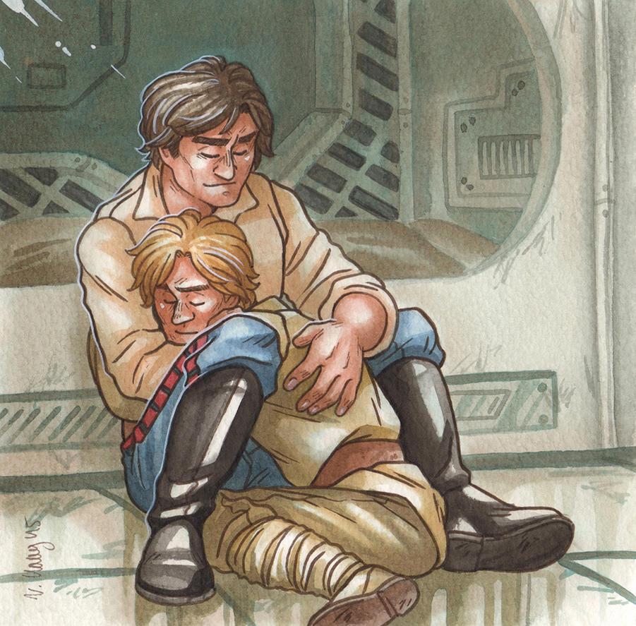 luke skywalker and han solo relationship