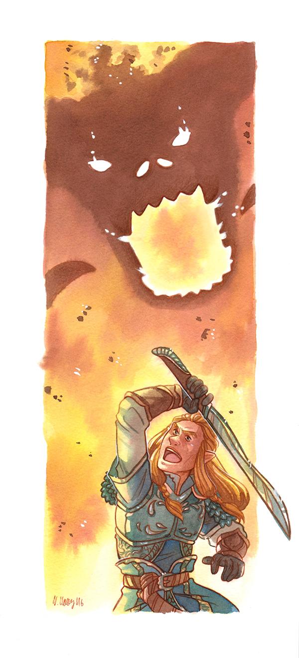 He Fought [Glorfindel] by ProfDrLachfinger