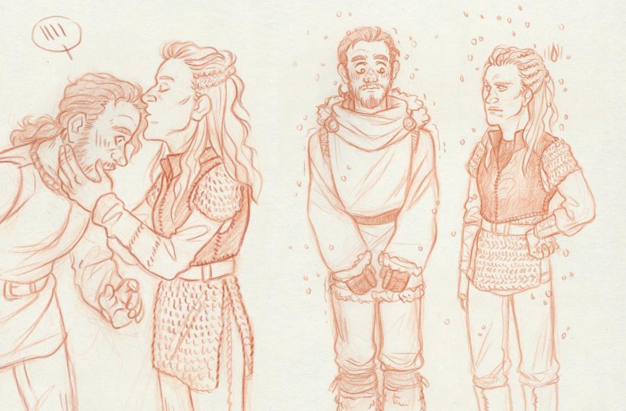 Lagertha and Athelstan [Vikings] by ProfDrLachfinger