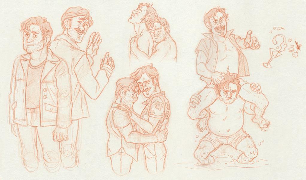 The Nice Guys Sketch Dump by ProfDrLachfinger