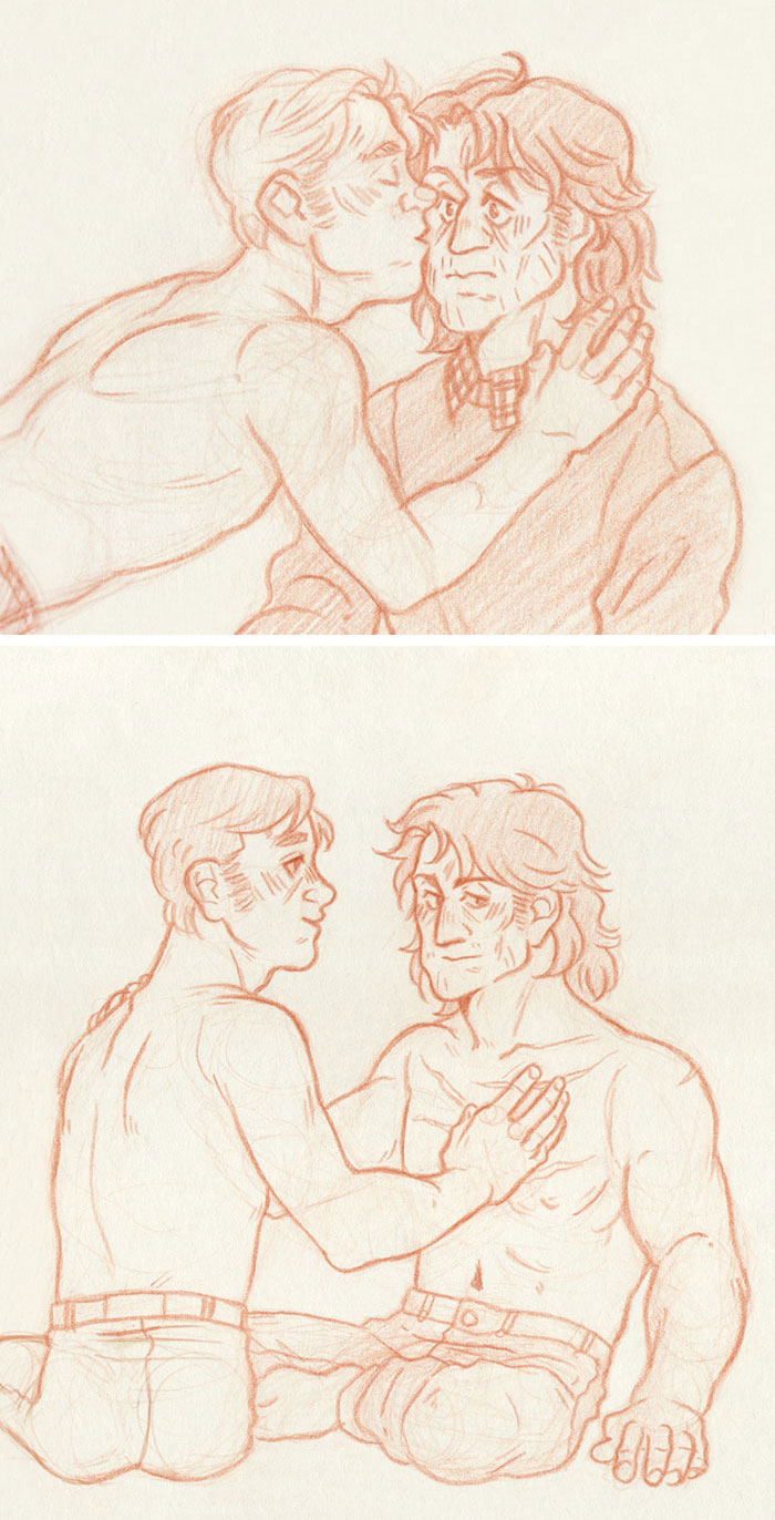 Scars and Kisses [John Rambo and Mitch] by ProfDrLachfinger