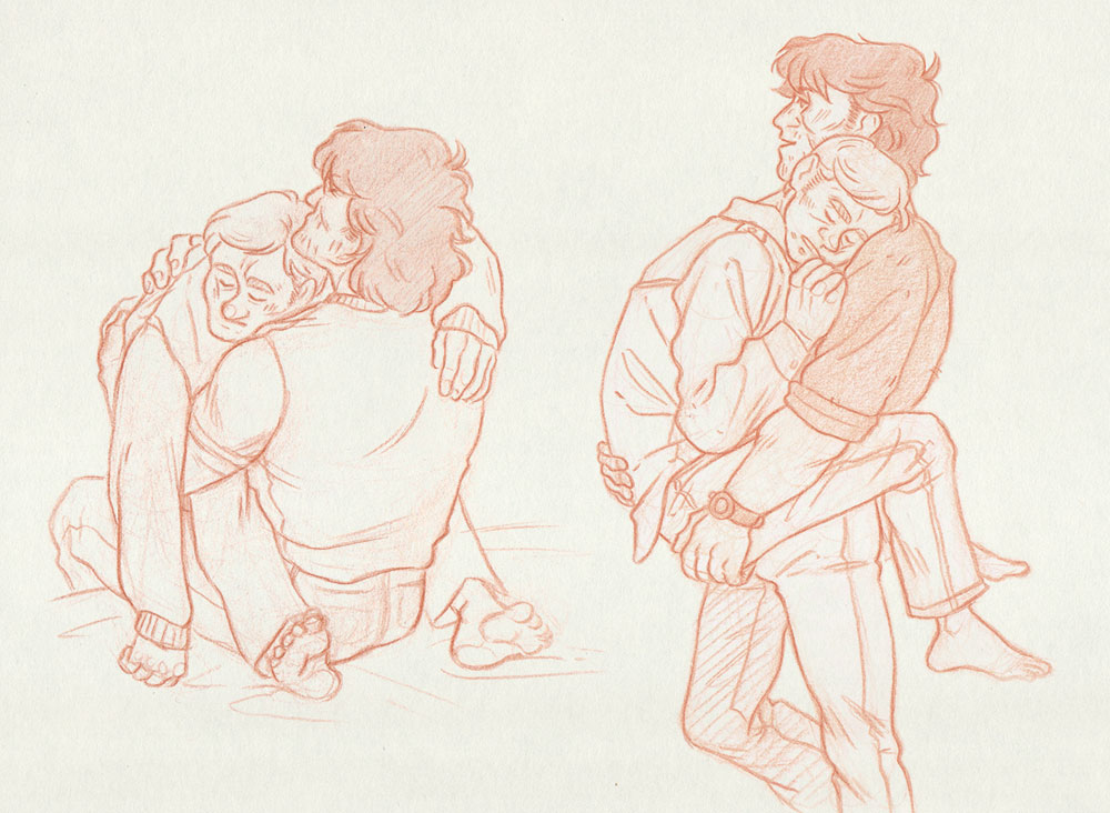 Sleepy Hug [John Rambo and Mitch] by ProfDrLachfinger