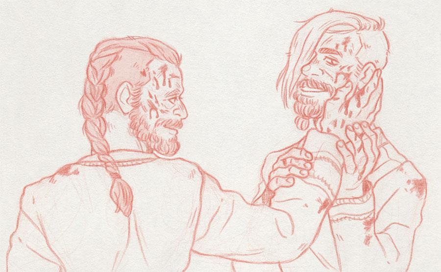 Blood [Harald Finehair and Halfdan the Black] by ProfDrLachfinger