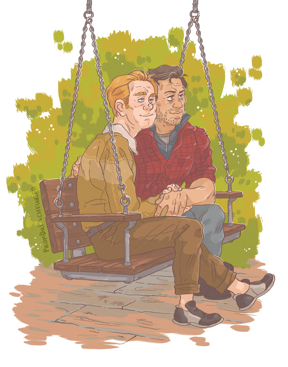 On the Swing [John Rambo and Mitch] by ProfDrLachfinger