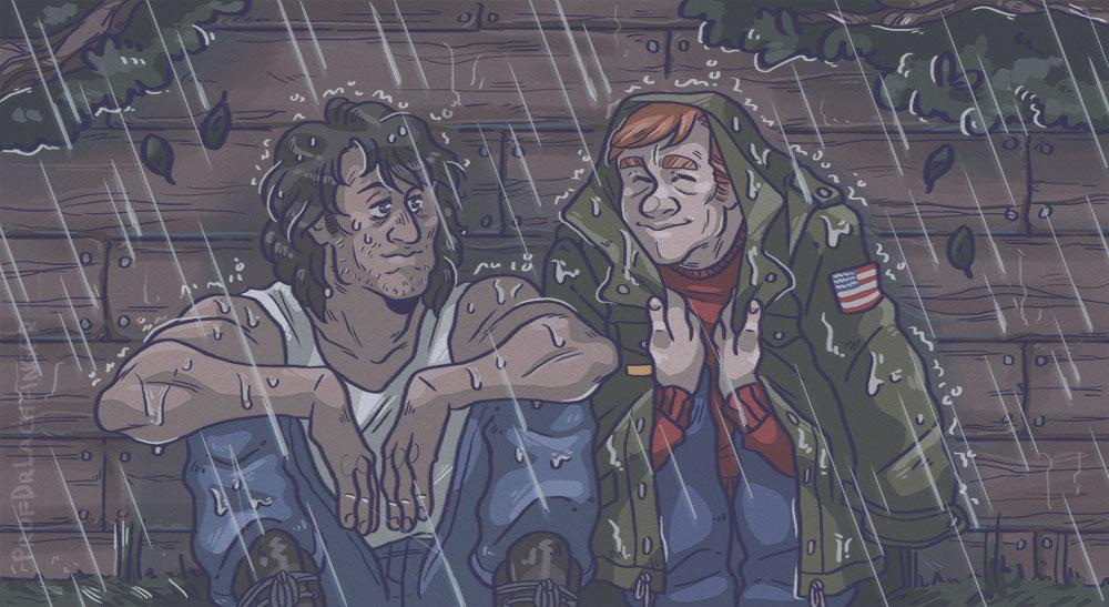 Rain [John Rambo and Mitch] by ProfDrLachfinger