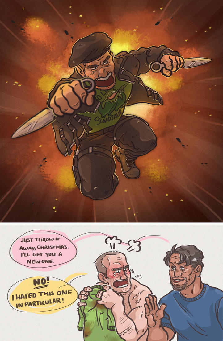 No one touches the shirt! [Expendables] by ProfDrLachfinger