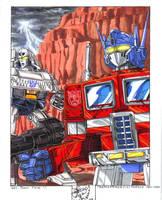 Optimus y Megatron by mdrmoreau