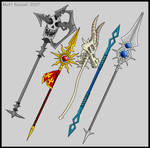 Spears and polearms