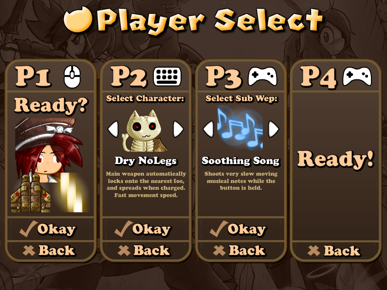 BH2: Player Select by KupoGames
