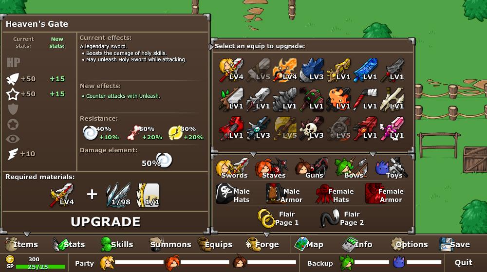 EBF5: Forge Menu by KupoGames