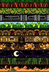 EBF5: Pixel Backgrounds by KupoGames