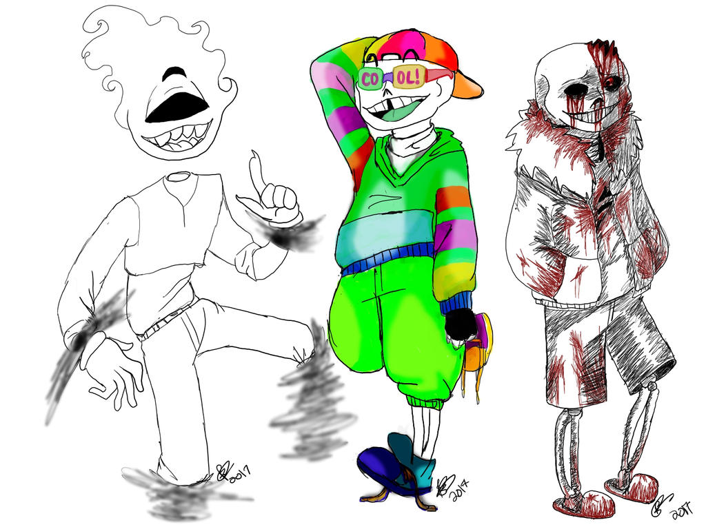 UNDERTALE AUS and my oc by TotallyLogical