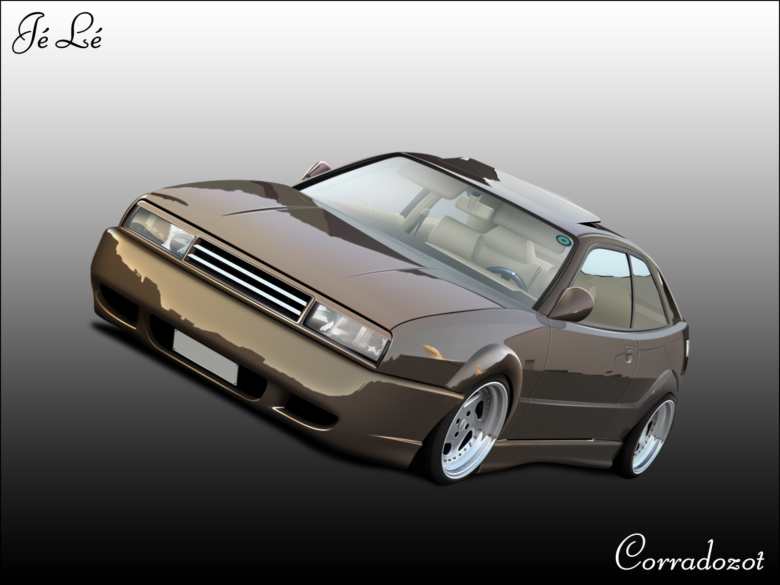 VW Corrado Cartoon by LeemansJ