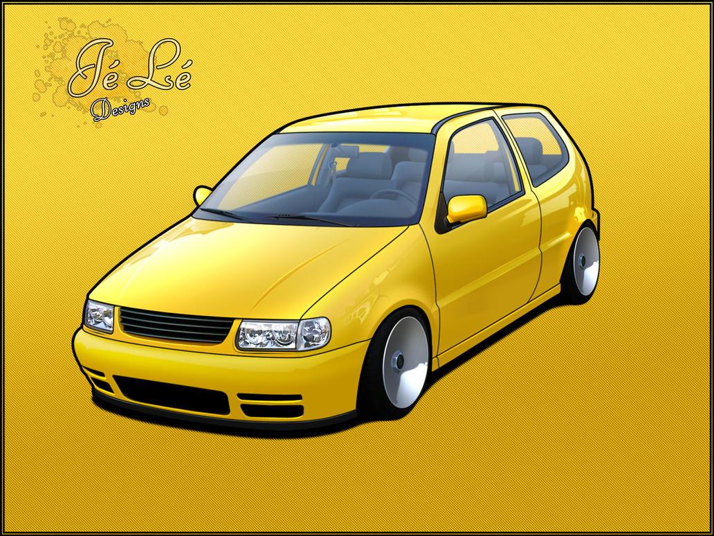 yellow vw polo