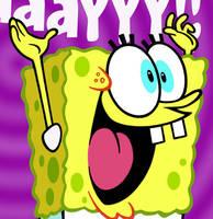 Spongebob birthday card by warpywoof