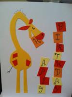 The Birthday Giraffe by warpywoof