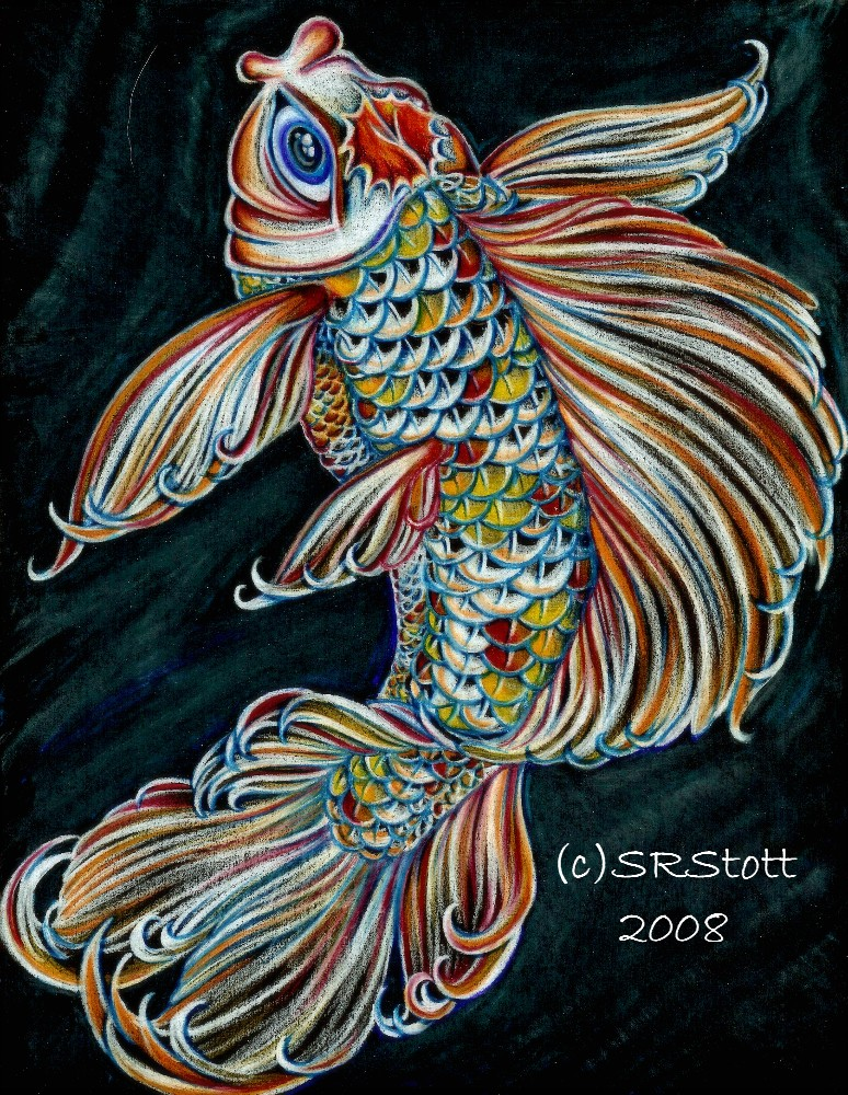 Butterfly koi by palewolf on deviantart for Butterfly koi tattoo