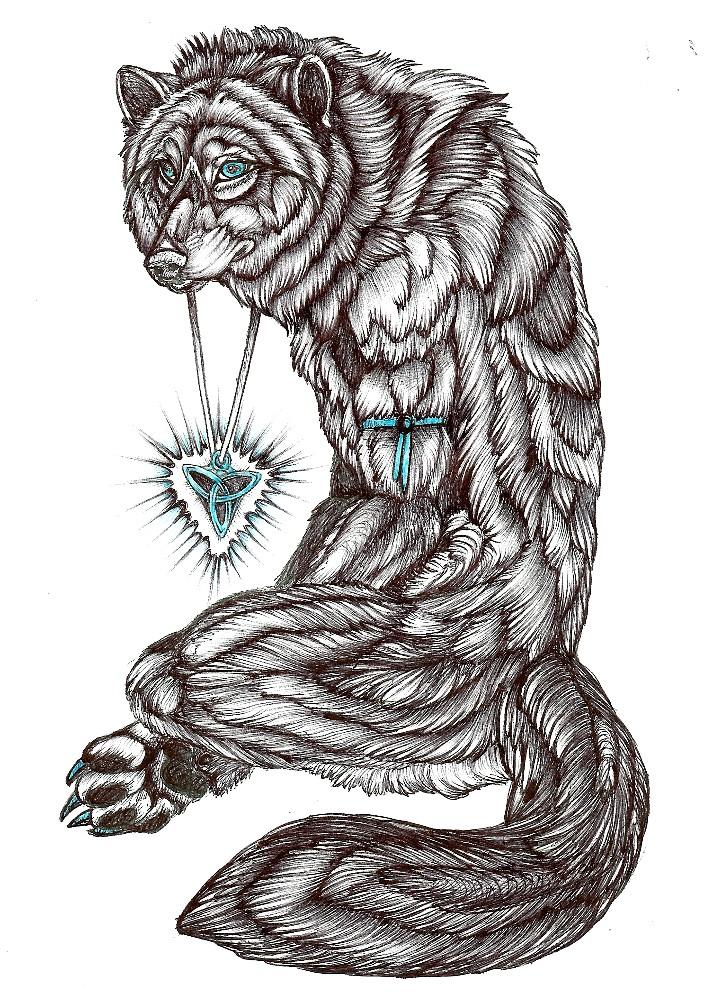 My Tattoo On Paper By Palewolf On Deviantart