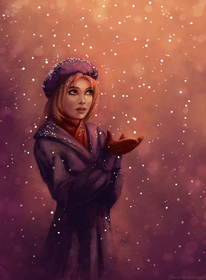 Christmas snow by Mar-ka