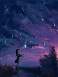 Rain of stars by Mar-ka