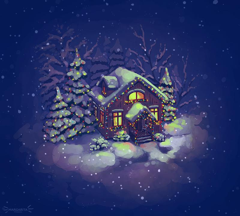 Lights and snow by Mar-ka