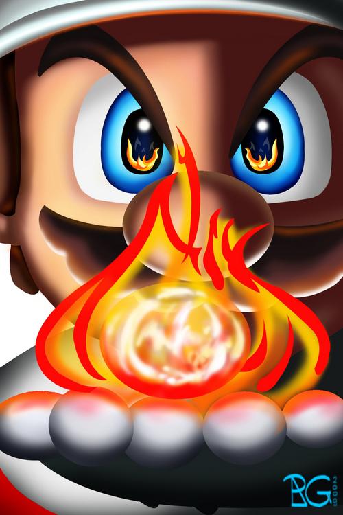 Fire Mario by BabyVegeta