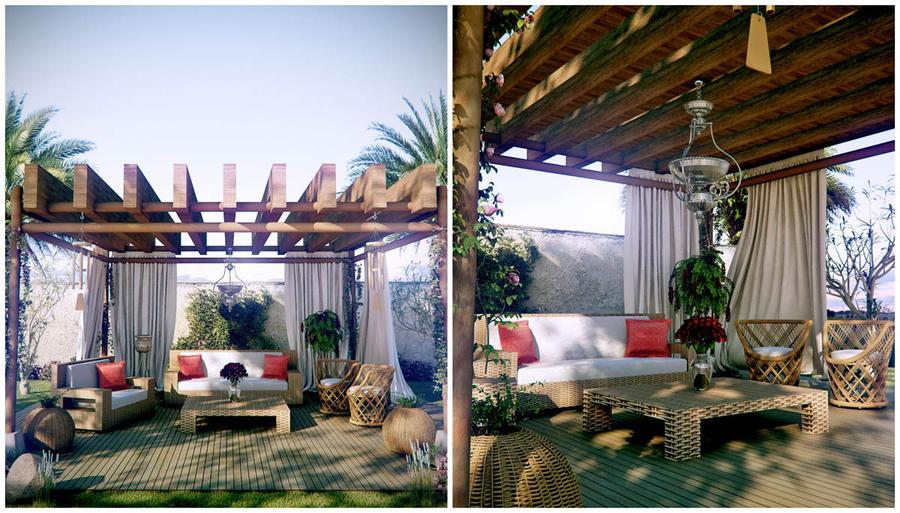 terrace garden by jaxpc