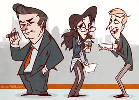 30 Rock Cartoon by l3xilos