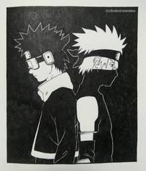 Naruto Shippuuden: Obito and Kakashi by ShokoraMomo