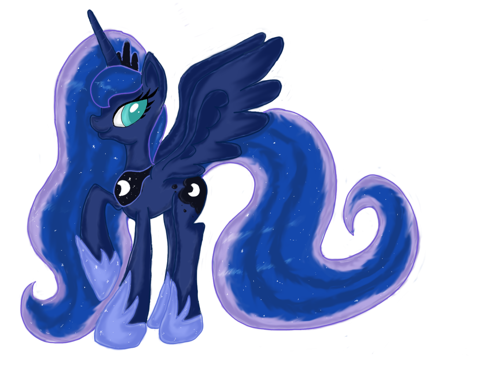 My Little Pony : Princess Luna by PumpkinKikile on DeviantArt