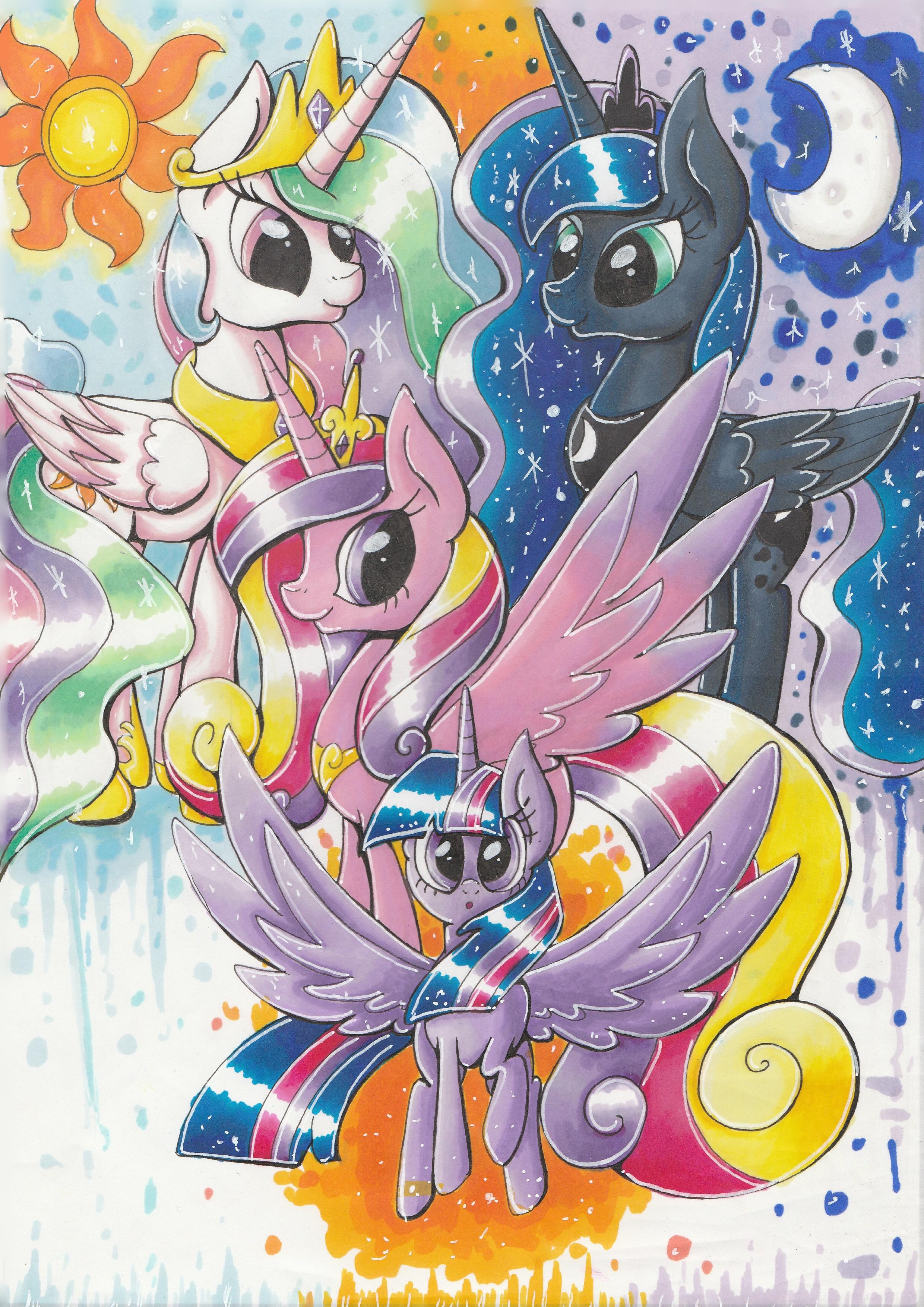 Princesses of Equestria by PumpkinKikile