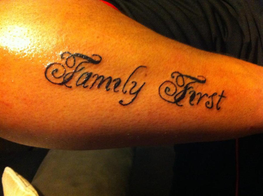 Family first by rockentattoos321 on deviantart for Family first tattoo designs