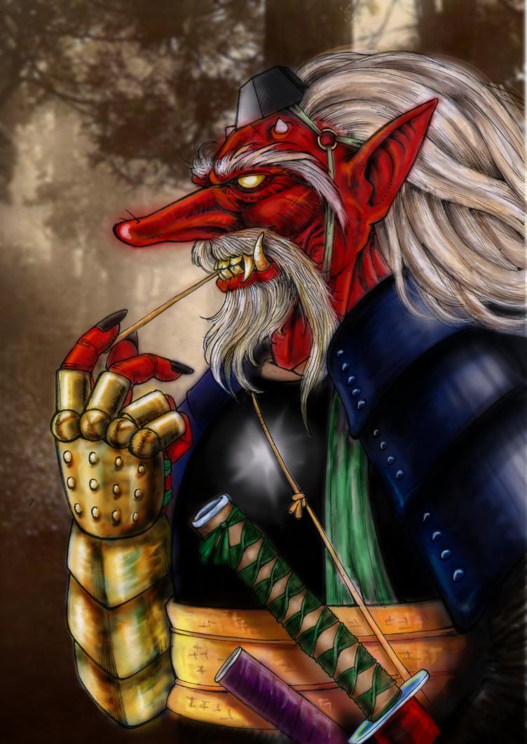Tengu warlord by king-ghidorah