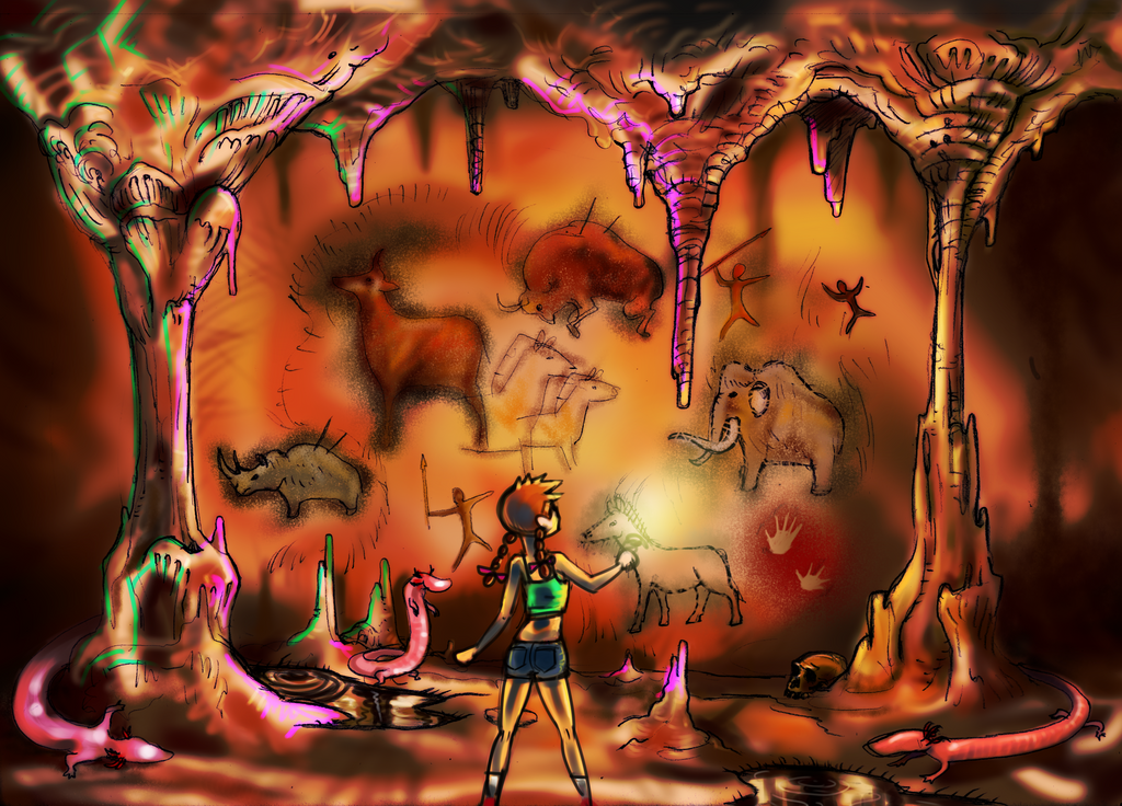 The mistery cave by king-ghidorah