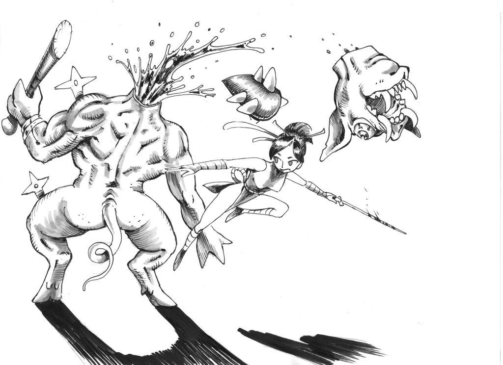 Inktober swift divided by king-ghidorah