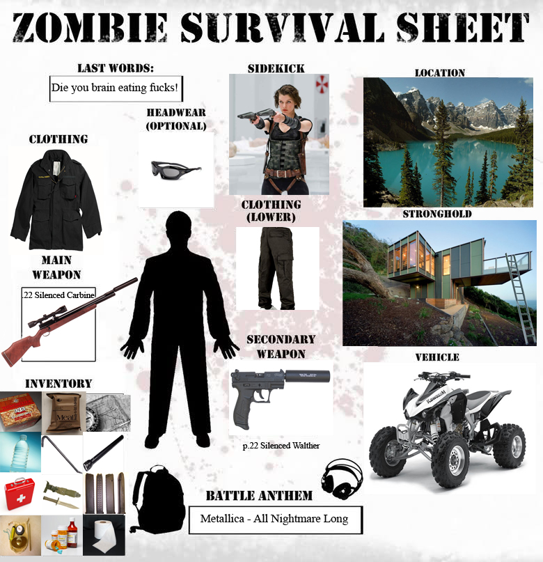 zombie survival essay Read this essay on zombie survival guide book report come browse our large digital warehouse of free sample essays get the knowledge you need in order to pass your.