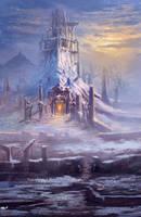 Snowy ruins by Rob-Joseph