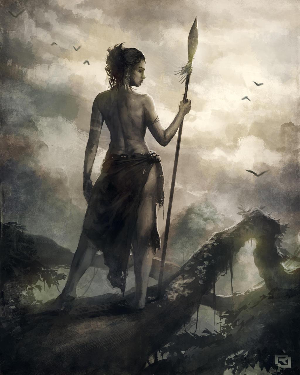 Warrior woman by rob joseph on deviantart