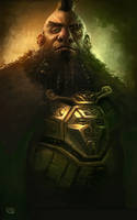 Dwarven Warrior by Rob-Joseph